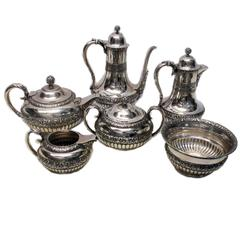 Tiffany & Co. Sterling Silver Six-Piece Tea and Coffee Service, circa 1870