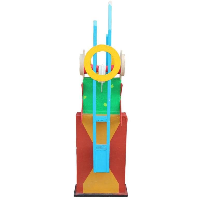 Memphis Style Large Abstract Sculpture Fluhme For Sale
