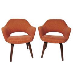 Pair of Mid-Century Modern Eero Saarinen Executive Armchairs