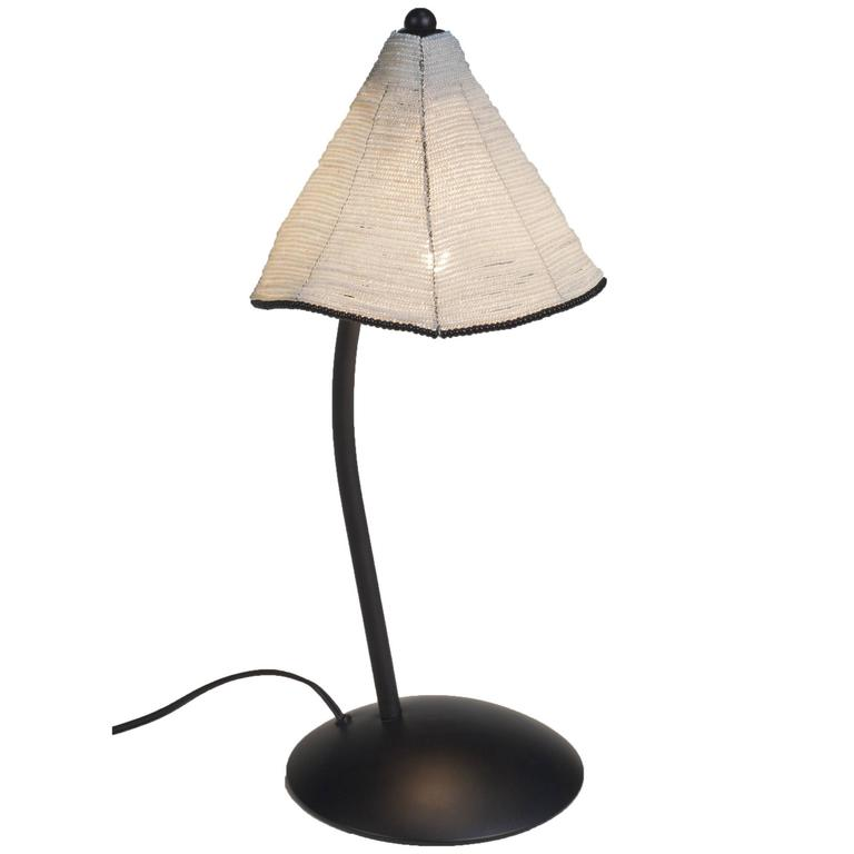 black and white glass bead shade perlina table l by