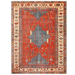 Antique Tribal Persian Bakshaish Rug