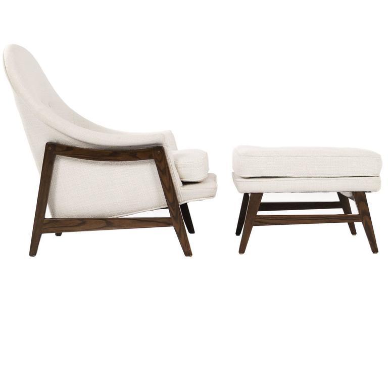 Edward Wormley Janus Lounge Chair and Ottoman 1