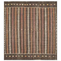 Vintage Handwoven Turkish Sumak Rug