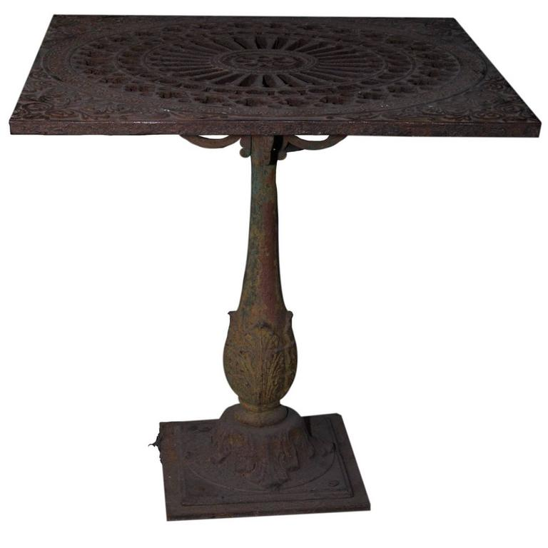 Unique Cast Iron Garden Table