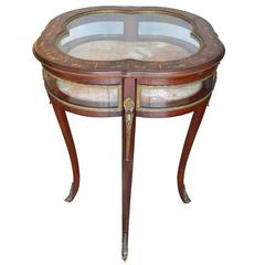 Antique 19th Century French Inlay Display Table
