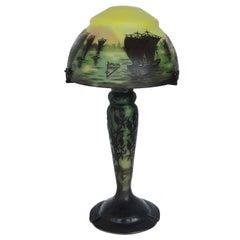 Gorgeous Daum Nancy Art Nouveau Cameo Table Lamp