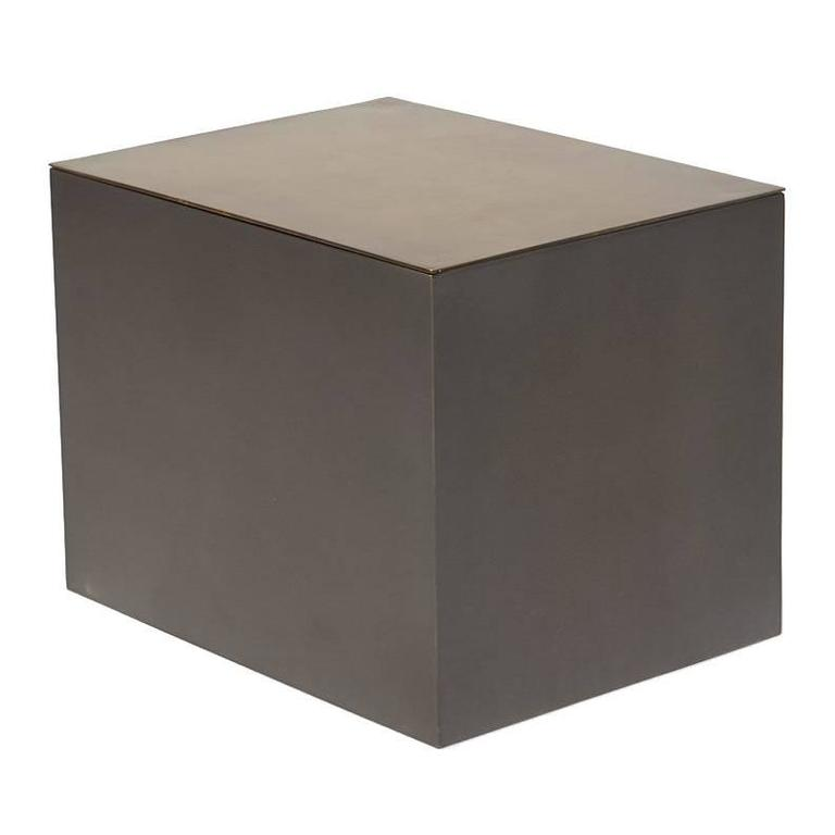 Modular Metal Block Table With Internal Shelf For Sale At