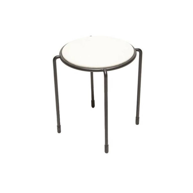 Bowline Stool in Cream Canvas - In Stock