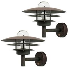 Pair of Danish Outdoor Wall Lights by Lyfa