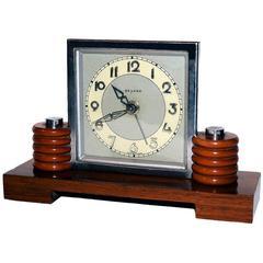 Art Deco 1930s Machine Age Clock by Bayard