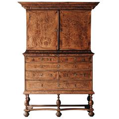 18th Century Swedish Baroque Alder Root Cabinet