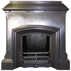 Mid 20th Century Art Deco Vintage 1930s Burnished Fireplace