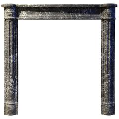 Louis XVI Style Grey Sainte Anne Marble Fireplace, 19th Century
