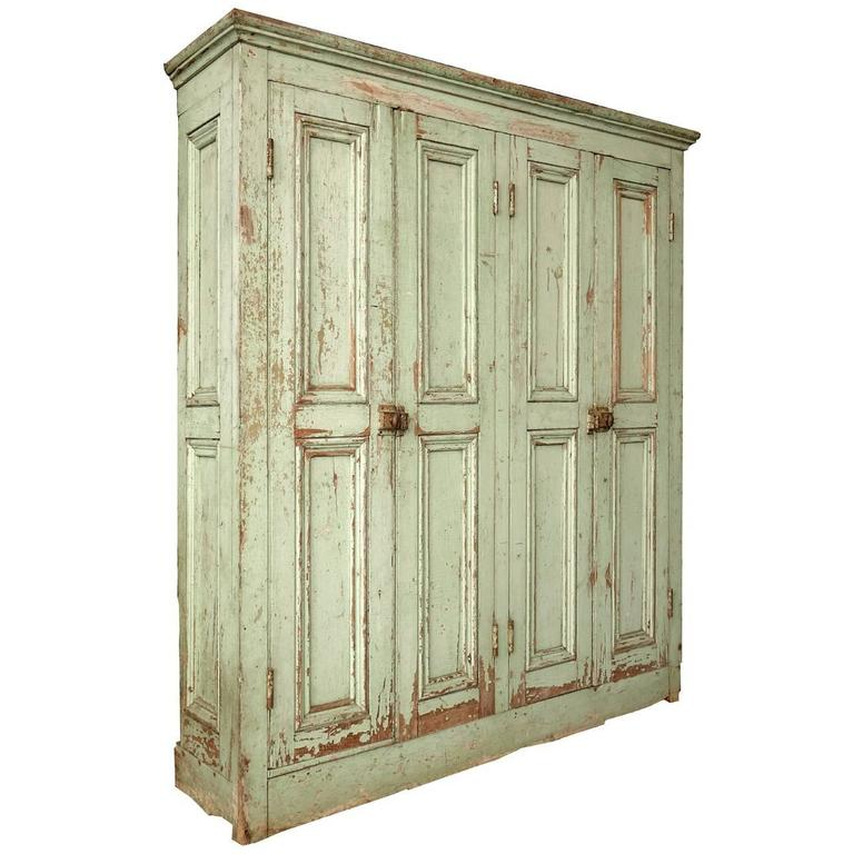 Original Paint Four-Door Raised Panel Cupboard 1