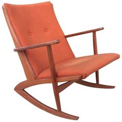 Mid-Century Modern Danish Teak Rocking Chair by Soren Georg Jensen