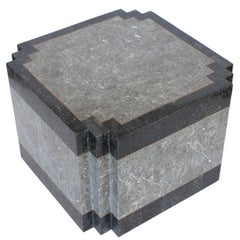 Maitland-Smith Tessellated Stone and Brass Side or End Table