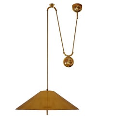 Large and Rare Adjustable Counterweight Pendant Lamp, Germany, 1970s