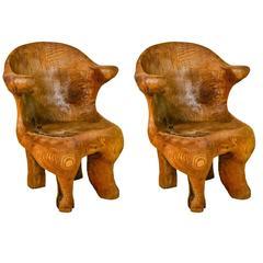 Pair of Vintage Log Chairs