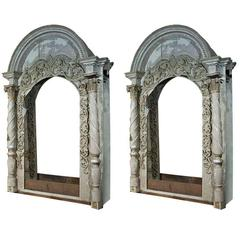Pair of Monumental Architectural Elements Arched Doors or Mirrors