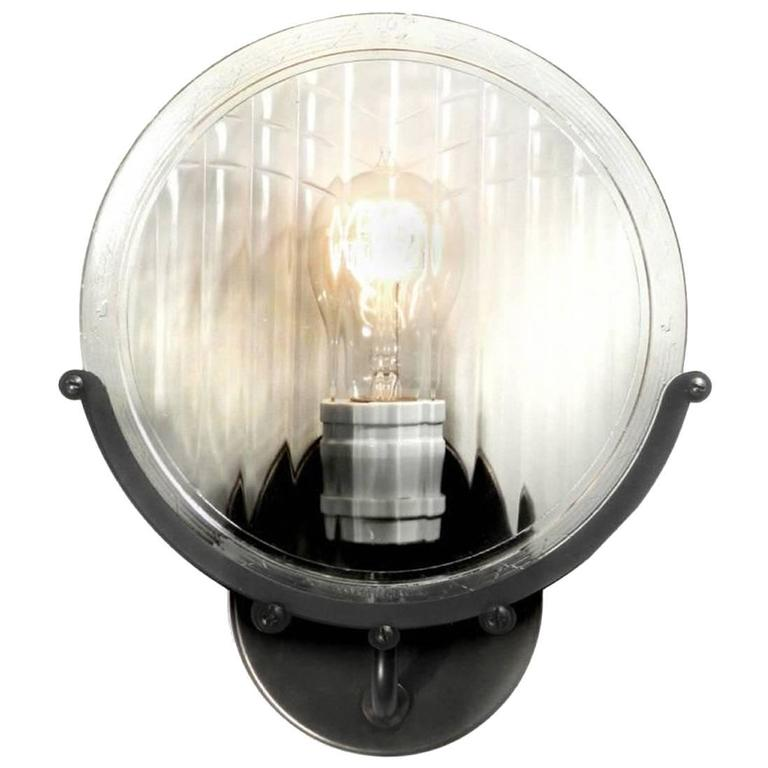 1915 Automobile Headlight Lens Sconce 1