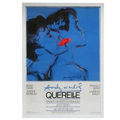 After Andy Warhol Querelle Offset Lithographic Movie Poster, Germany, 1980s