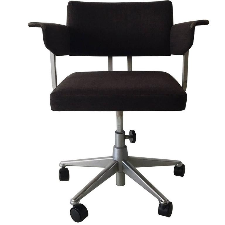 Industrial Desk Chair By Friso Kramer For Ahrend De Cirkel, 1973