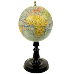 Terrestrial Globe Edited by the French Cartographer J. Forest in the 1930s