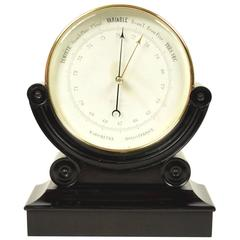 Rare Brass Aneroid Barometer End of the 19th Century