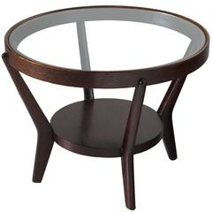 Jindrich Halabala Side Table in Stained Oak