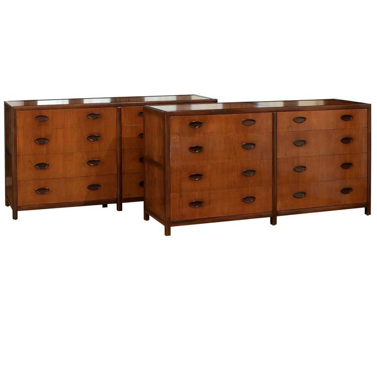 Spectacular Restored Chest by Baker in Bookmatch Cherry and Walnut