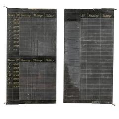 Pair of Belgian Black Chalkboards from the Early 20th Century