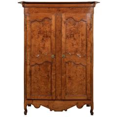19th Century French Armoire in Burled Ash, circa 1850