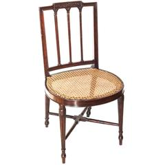 Fine George III Period Neoclassical Mahogany Side Chair, Manner of Gillows