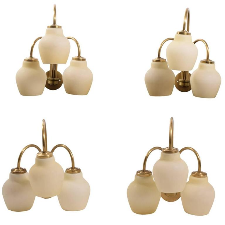 Four Wall Sconces Attributed to Vilhelm Lauritzen For Sale