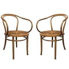 Set of Two Thonet Bentwood Armchairs