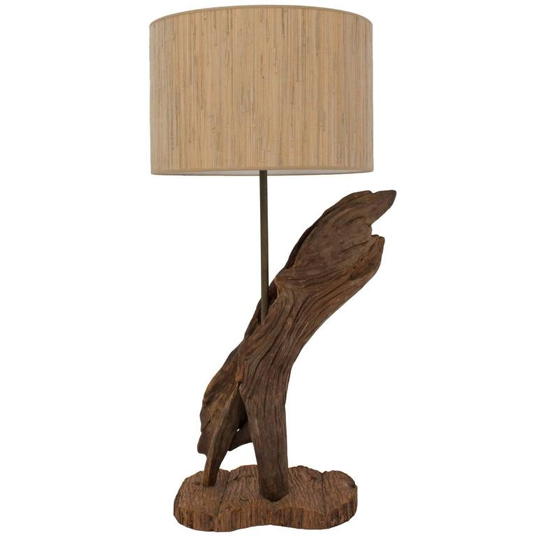 Tall vintage sculptural driftwood lamp at 1stdibs for Driftwood tables handmade