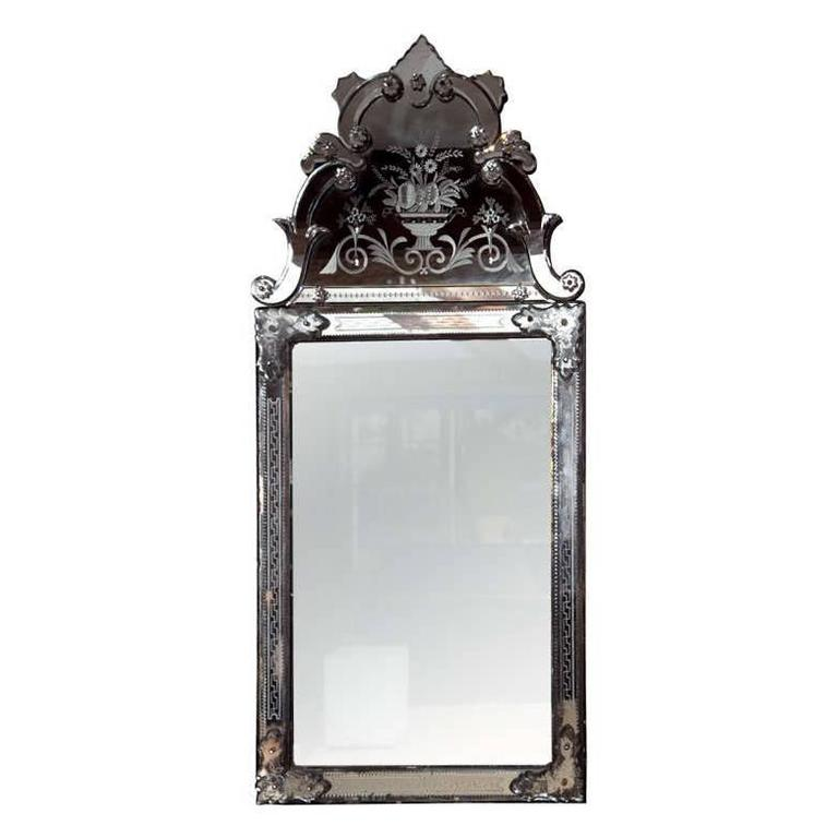 Venetain style glass frame mirror for sale at 1stdibs for Mirror frame styles