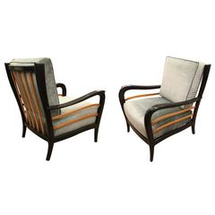 Pair of 1940s Italian Lounge Chairs Attributed to Mario Quarti