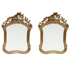 Fine Pair of Baroque Giltwood Mirrors