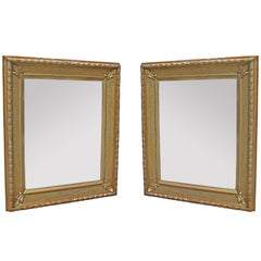 Fine Pair of Large Neoclassical Giltwood Mirrors
