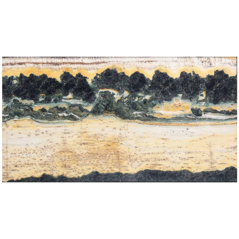 Important China Master Work Extraordinary Natural Stone Painting 19 Crags For Sale