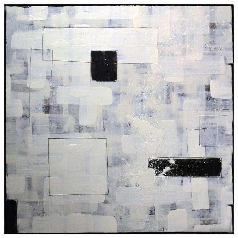 Abstract Encaustic Painting by Artist Peri Gutierrez