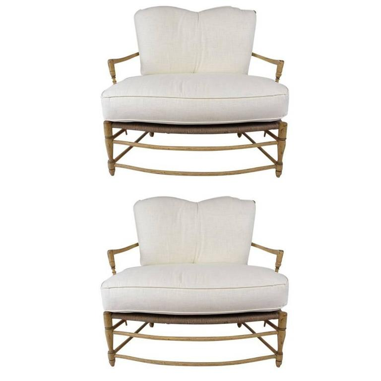 Pair of French Provincial Settees For Sale