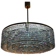 Large and Unusual Crystal Chandelier by Lobmeyr, circa 1960s