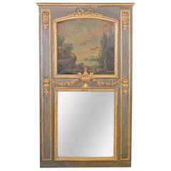 18th Century French Painted Trumeau