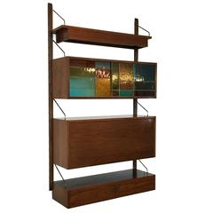Rare Mid-Century Modern Poul Cadovius for Royal System Single Bay Unit