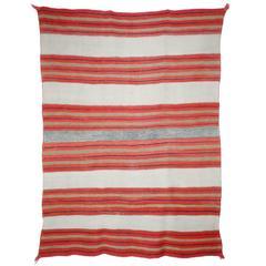 Banded Navajo Twill Blanket, circa 1875