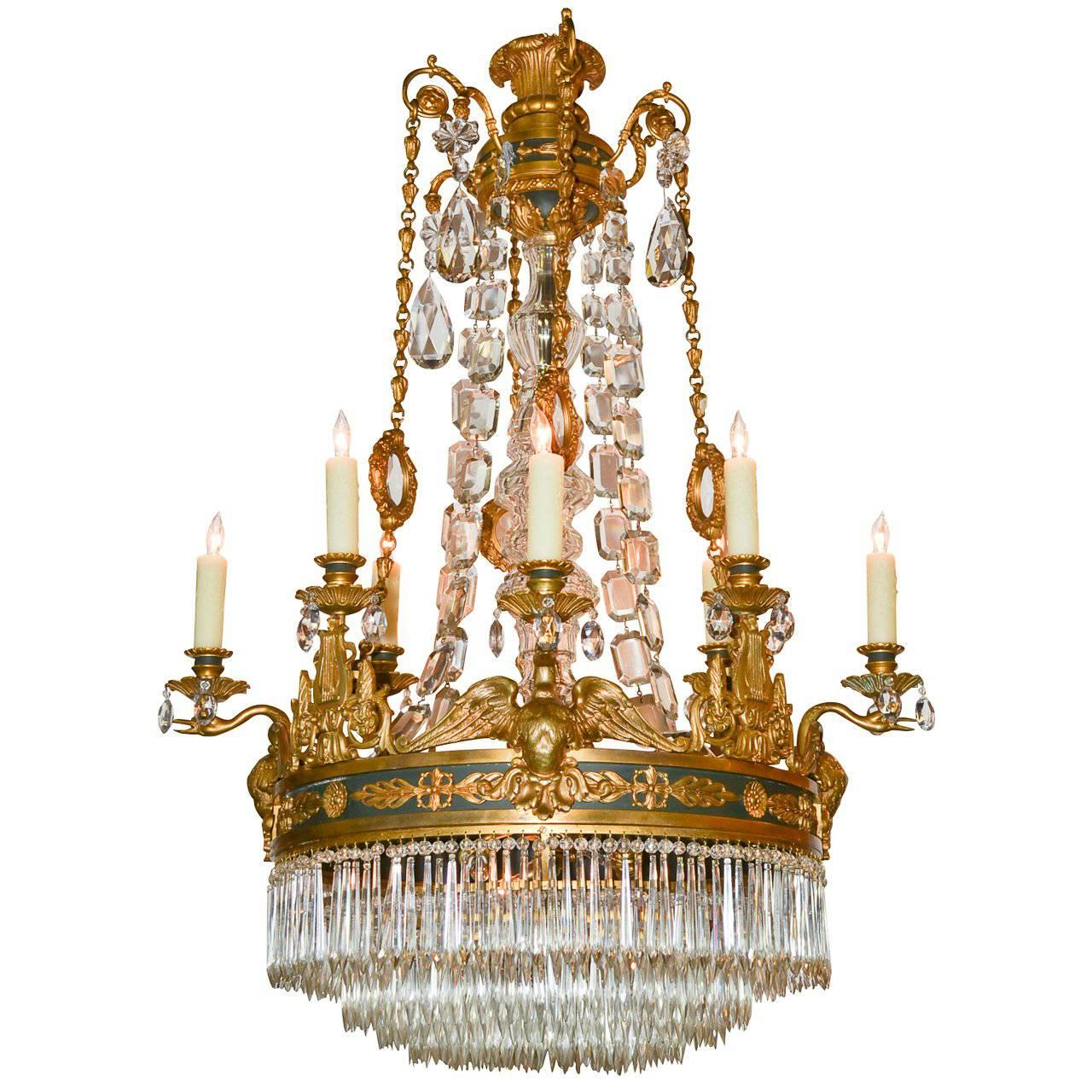 19th century empire chandelier for sale at 1stdibs aloadofball Choice Image