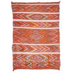 Antique Navajo Wedge Weave Blanket, circa 1885