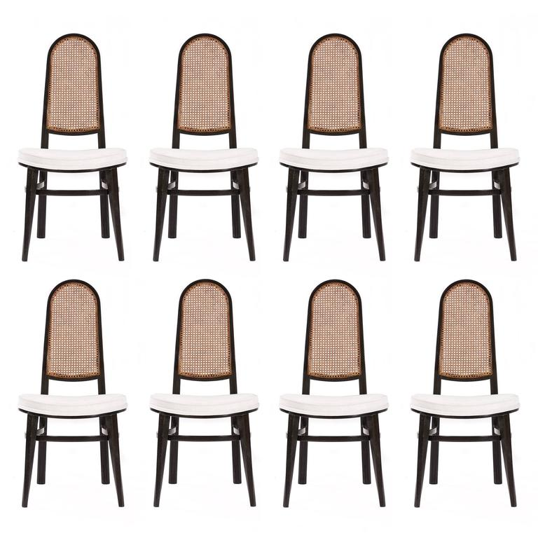 Rare Edward Wormley Set of Eight Dining Chairs For Sale